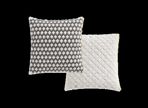 Подушка Silai Dark grey - White 50x50