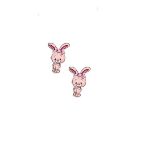 Зайчик 2,7*3,5см  арт250761 (в упаковке 2 шт)