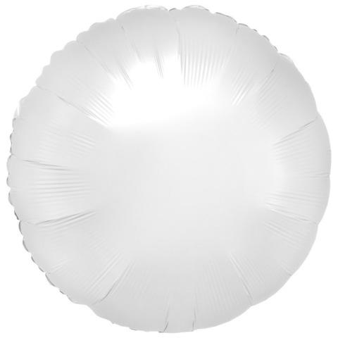 Шар круг Белый, 45 см