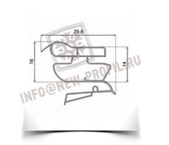 Уплотнитель для холодильника Индезит B16 (морозильная камера)  Размер 65,5*57 см Профиль 022