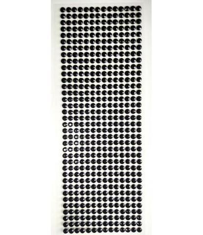 Стразы черные 5 мм длинные