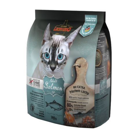 Leonardo Adult Salmon GF Сухой корм для кошек с чувствительным пищеварением с лососем (беззерновой)