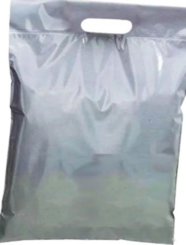 Пакеты Зип лок с вырубной ручкой 35 х 35 - (100) серебристый металлик