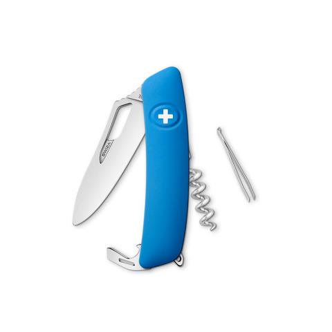 Швейцарский нож SWIZA SH01 R-WM Standard, 95 мм, 7 функций, синий