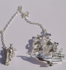 Корабль и рыбка ( серебряный ионизатор)
