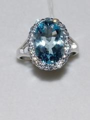 1100401-топаз(кольцо из серебра)