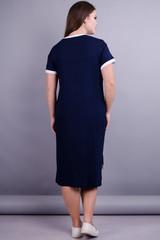 Юта. Оригінальна сукня плюс сайз. Синій+білий.
