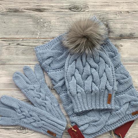Комплект: шапка, снуд, перчатки