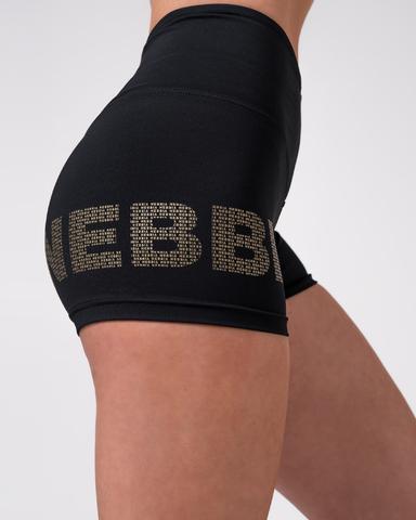 Шорты женские Nebbia 828 Gold Logo Print