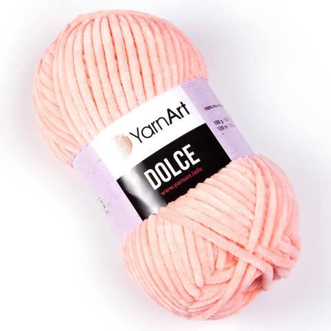 Пряжа Dolce (Дольче), Цвет: Персиковый. Артикул: 754
