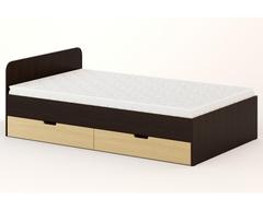 Кровать КР-08 венге / дуб беленый