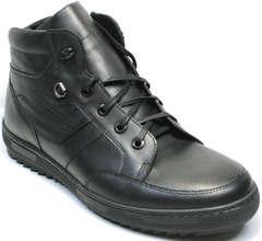 Зимние ботинки кожа мужские Ikoc 1608-1 Sport Black.