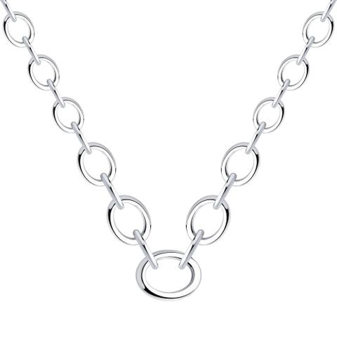 94070354 - Колье из серебра  из крупных звеньев