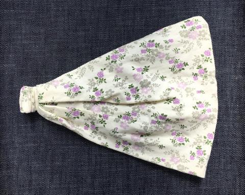 Повязка - косынка - бандана из трикотажа с принтом Цветочки