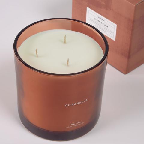 Свеча ароматическая Citronella оранжевая 750 г