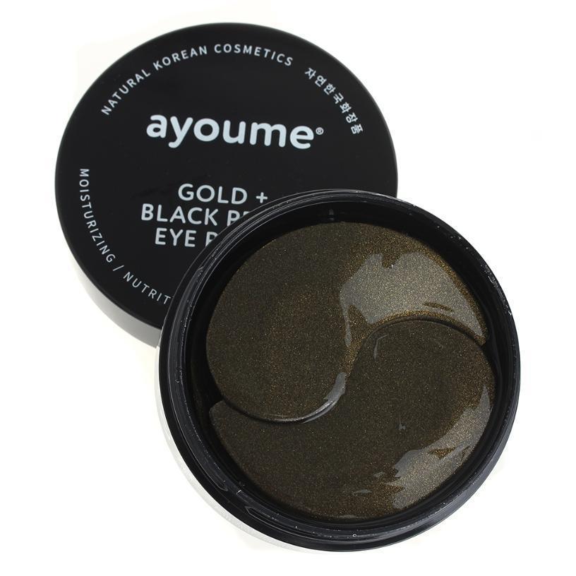 Каталог Патчи для глаз от темных кругов с золотом и черным жемчугом AYOUME GOLD+BLACK PEARL EYE PATCH 1,4гр*60 AYOUME_GOLD_BLACK_PEARL_EYE_PATCH_1_4гр_60.jpg