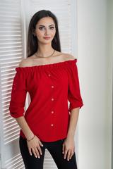 Міка. Молодіжна оригінальна літня блуза. Червоний