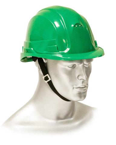 Каска защитная рабочая зеленая