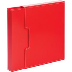 Папка файловая на 100 файлов красная