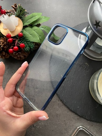 Чехол Iphone 12 pro/ 12 Rock Electroplating.  Series /blue/
