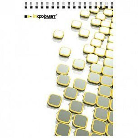 Блокнот А7 40 л. кл. PLACER евроспир. мел. карт. гл.лам. 65 г/м2
