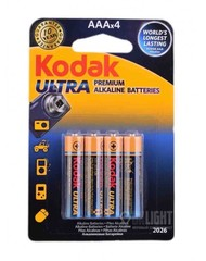 Батарейки Kodak Ultra LR03, AAA (4/48) BL