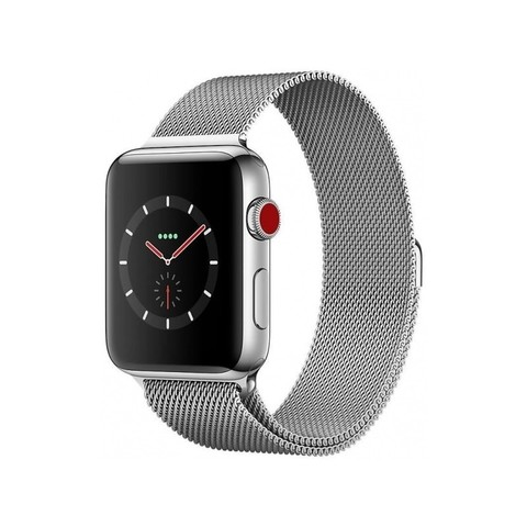 Apple Watch Series 3 Cellular 38mm Stainless Steel Case with Milanese Loop (Silver)