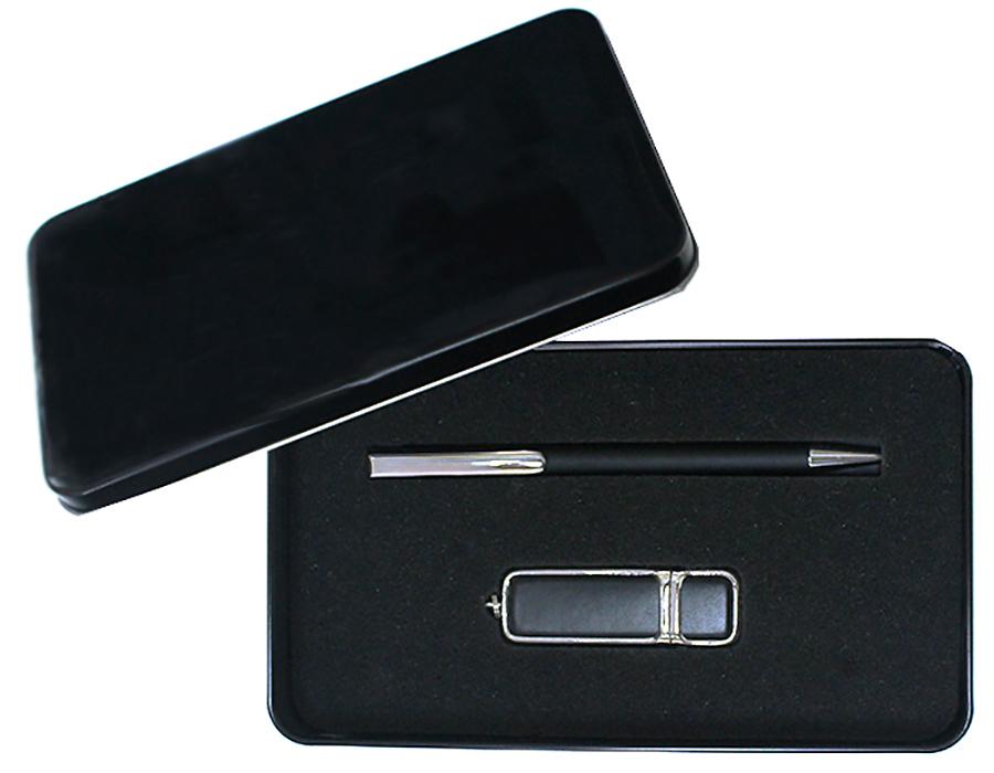 Подарочный набор + ежедневник + ручка + флешка 16 Гб