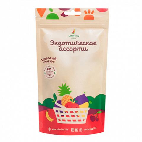 Зеленика  фруктовый перекус из экзотического ассорти 20 г