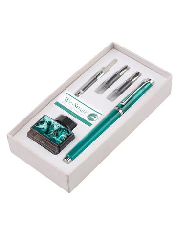 Набор Pierre Cardin We-Share - Turquoise, перьевая ручка M + 2 сменных пера + чернила + конвертер