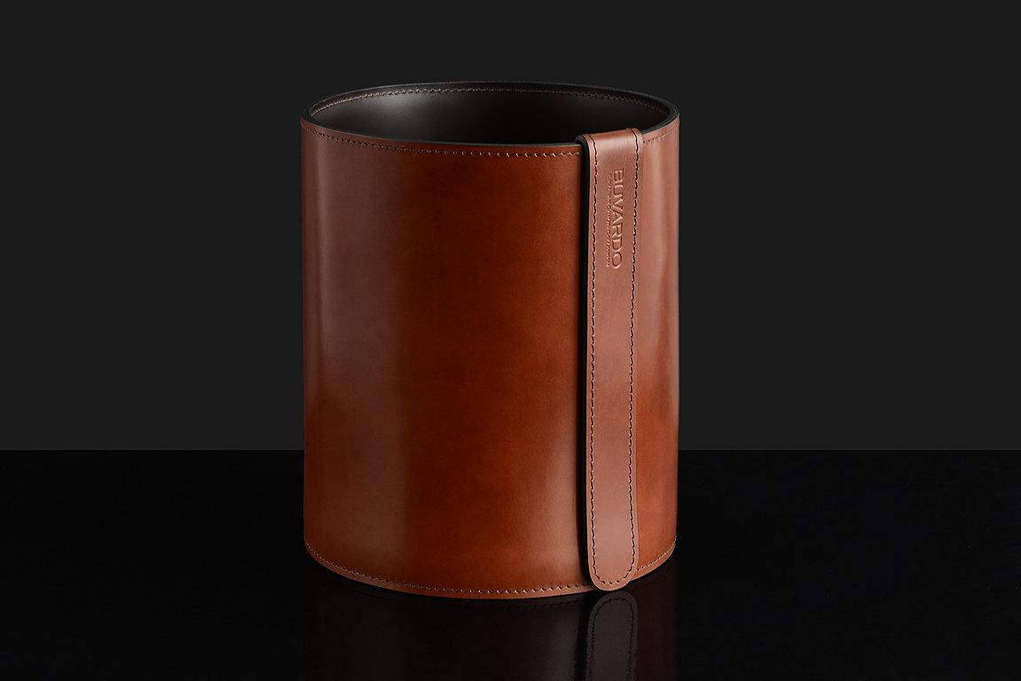 Корзина D30 BUVARDO LUX из кожи Full Grain Toscana Tan
