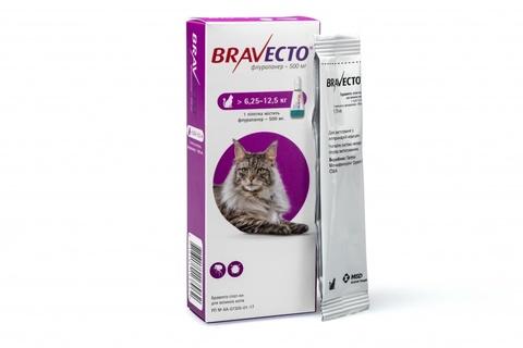 Бравекто капли для кошек 6,25-12,25 кг