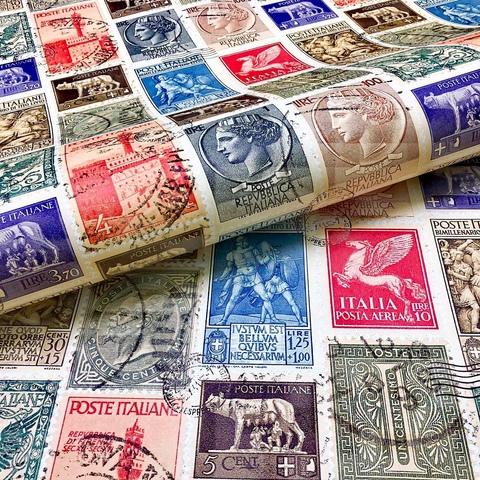 Бумага подарочная декоративная Итальянские марки