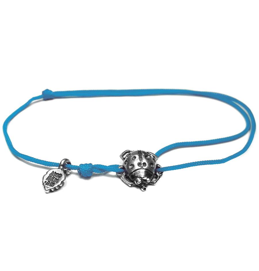 Small Ladybug bracelet, sterling silver