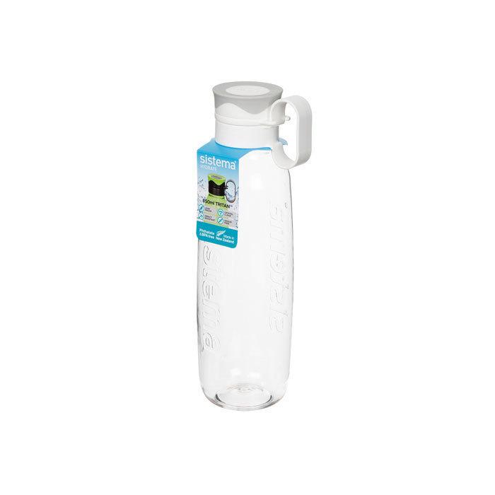 "Бутылка для воды с петелькой Sistema ""Hydrate"", Тритан, 850 мл, цвет Белый"