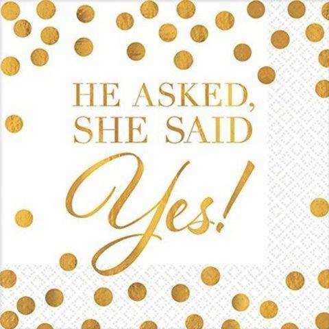 Салфетки She said yes! блеск, 16 штук