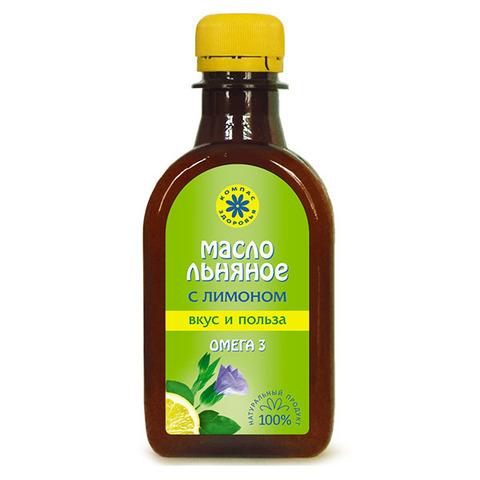 Масло растительное льняное, Компас Здоровья, экстракт лимона на основе льняного масла,