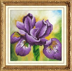 Ирис - мозаичная картина, 303003