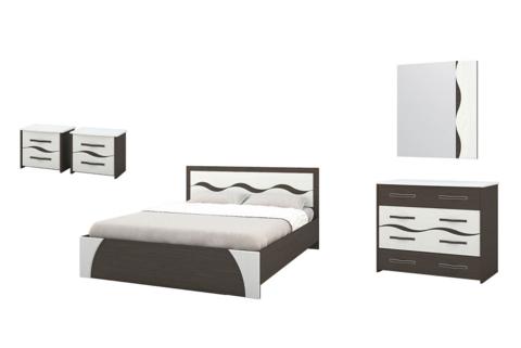 Спальня Валенсия-1 Горизонт венге, арктик
