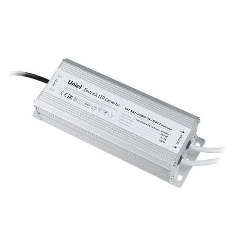 UET-VAJ-100B67 Блок питания для светодиодов с защитой от короткого замыкания и перегрузок, алюминиевый корпус, 100Вт, 24В, IP67, 2 выходных канала