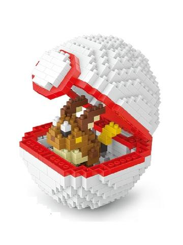 Конструктор Wisehawk & LNO покемон бол Райчу 440 деталей NO. 2534 Raichu Pokemon ball Gift Series