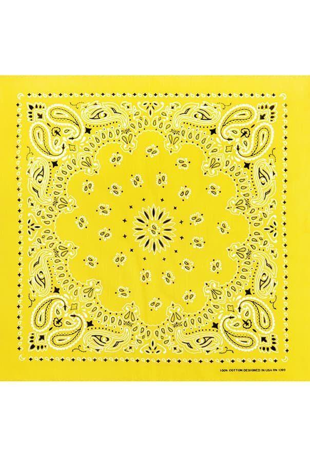 Желтая женская бандана фото