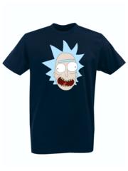 Футболка с принтом мультфильма Рик и Морти (Rick and Morty) темно-синяя 002