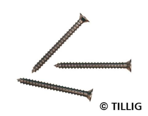 Мини-шурупы для дерева 10 шт. для фиксации балласта полотна и рельсов 1,4 x 15 м