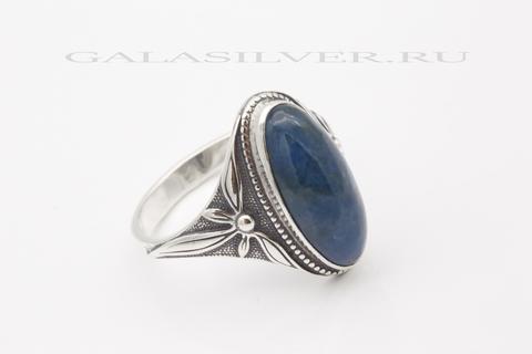 Кольцо с апатитом из серебра 925