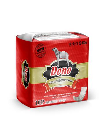 Dono одноразовые впитывающие пояса для кобелей (размер M) 10 штук
