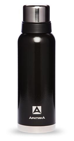 Термос Арктика (106-1200 чёрный) 1,2 литра с узким горлом американский дизайн, черный*