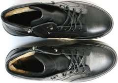 Зимние ботинки мужские кожаные Ikoc 1608-1 Sport Black.