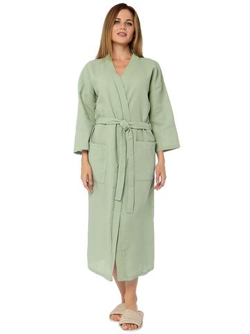 Оливковый женский халат