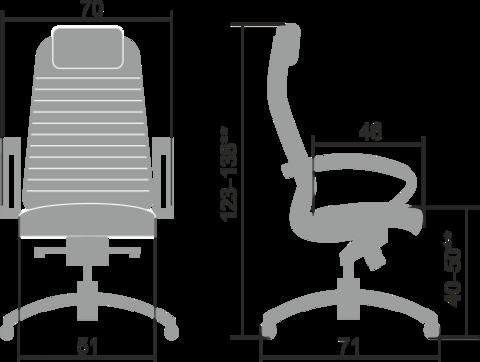 Samurai KL-1.04 Кресло руководителя (Метта)